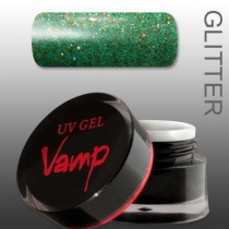 VAMP SZÍNES ZSELÉ No. 812 Green Day, Glitter Collection